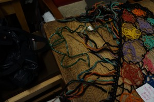 Picture of the wire and shawl together
