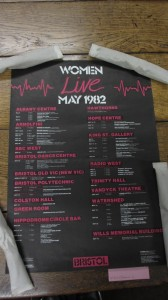 Women Live poster with details of a series of creative activities including music, film, theatre, art and discussions