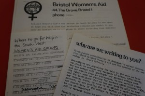 Collection of pamphlets about Bristol Women's Aid