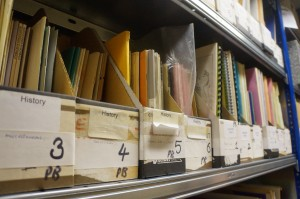 A shelf of periodicals