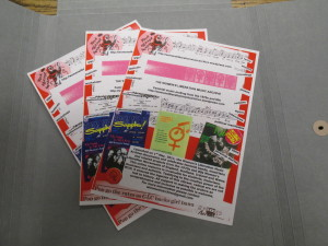 Fliers for the Women's Liberation Music Archive